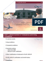 A321 Lateral Control in Turbulence and Icing Conditions
