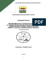 Expediente Técnico Aves de Psotura Santa Isabel