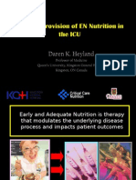 Optimal Provision of en Nutrition in the ICU