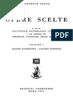 Giuseppe Peano - Opere Scelte Vol. 1