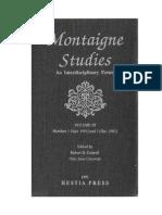 Montaigne Studies 3