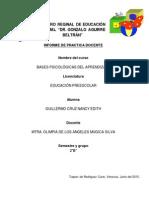 Informe_Conocimiento Del Medio Natural  en Preecolar