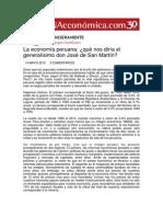 La Economía Peruana . Qué Nos Diría El Generalísimo Don José de San Martín
