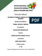 Informe de Primera Jornada de Práctica Docente.