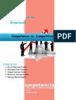 Competencia vs Competitividad