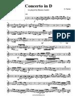 Tartini Concerto in D Trpt in A