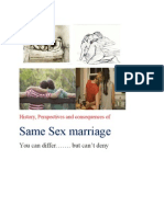 Same Sex Marriage, history and perspective