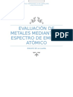 evalucion de metales mediante su espectro de emisión atomico