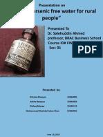 Presentation of Arsenic