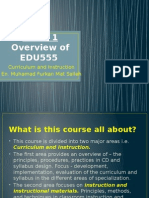 edu555 week 1 course overview