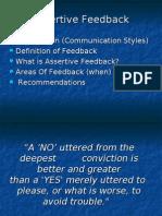 Assertive Feedback