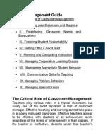 Classroom Management B