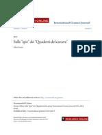 Frosini 2015 Sulle Spie Dei Quaderni Del Carcere