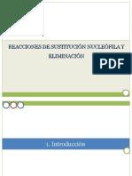 Sustitución nucleofílica y eliminaciones.