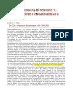 Magri, Julio N. Otra Historia Morenista Del Morenismo. Sobre ''El Trotskismo Obrero e Internacionalista en La Argentina'' (1943-1955)