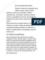 Definición de Folklore Mexicano