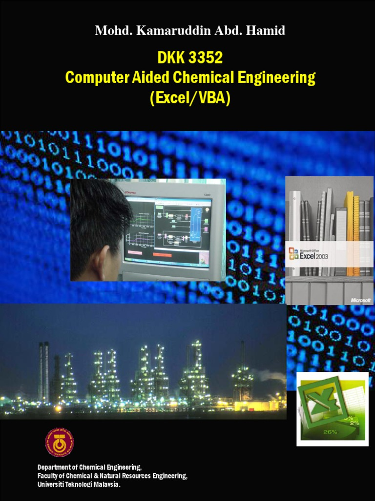 Computer Aided Chemical Engineering | Microsoft Excel | Matrix (Mathematics)