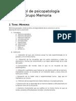 Control de Psicopatología memoria