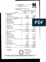 Statement of Assets & Liabilities as on March 31, 2014 [Result]