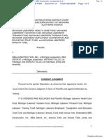 Michigan Laborers Health Care Fund et al v. SBG Construction, Incorporated et al - Document No. 14