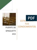 """Bases del Concurso """"Puente de Spaguetti"""" - CONEIC 2015"""