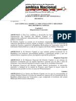 ley Especial Sobre La Organizacion Del Distrito Capital 13-04-09