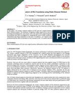 Seismic Response Analysis of Pile Foundation Using Finite Element Method