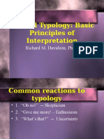 Biblical Typology Basic Principles of Interpretation - Richard Davidson