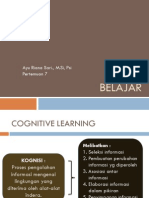 Kuliah 6 - Belajar Kognitif