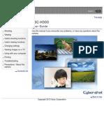 DSC H300 Cyber ShotUserGuide En