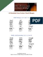 12 Essential Jazz Guitar Chord Shapes