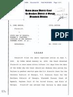 Genins v. State Bar of Georgia et al - Document No. 50