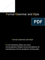 Formal Grammar and Style