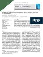 Bending Andvibrationoffunctionallygradedmaterialsandwichplatesusing
