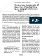 Assessment of Morphometric Characteristics of Karwadi Nandapur Micro Watershed Using Remote Sensing and Geographical Information System
