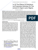 An Evaluation of the Effects of Petroleum Exploration and Production Activities on the Social Environment in Ogoni Land Nigeria