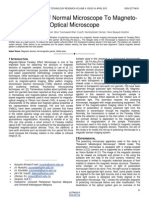 Modification of Normal Microscope to Magneto Optical Microscope