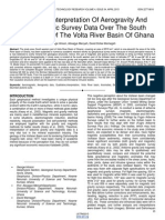Qualitative Interpretation of Aerogravity and Aeromagnetic Survey Data Over the South Western Part of the Volta River Basin of Ghana