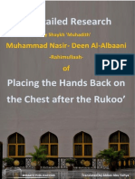 Miraath Publications Placing the Hands Back on the Chest After the Rukoo 2014