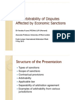 1. Arbitrability of Disputes Affected by Economic Sanctions by Dr. Yaraslau Kryvoi