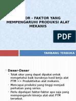 Faktor Yg Mempengaruhi Produksi