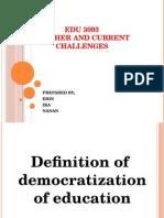 Edu 3093 Democratization in Edu