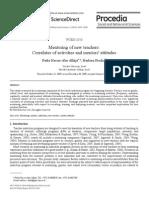 Procedia - Social and Behavioral Sciences Volume 2 Issue 2 2010 [Doi 10.1016_j.sbspro.2010.03.360] Fadia Nasser-Abu Alhija; Barbara Fresko -- Mentoring of New Teachers- Correlates of Activities and