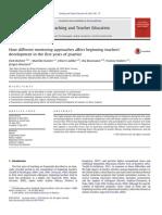 Teaching and Teacher Education Volume 36 Issue 2013 [Doi 10.1016_j.tate.2013.07.012] Richter, Dirk; Kunter, Mareike; Lüdtke, Oliver; Klusmann, Uta; -- How Different Mentoring Approaches Affect Begin