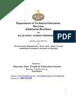 Admission Brochure B.tech & B.arch_2015-16