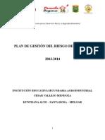 Plan Del Gestión de Riesgos 2