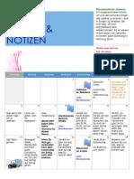 Planer und Notizen Juli 2015