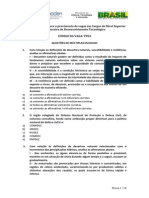 Prova Escrita TP04 - CEMADEN-2013
