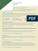 2015 BPS Workshop Presenters' Application