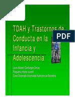 Tdah y Trastornos de Conducta en La Infancia y Adolescencia 0